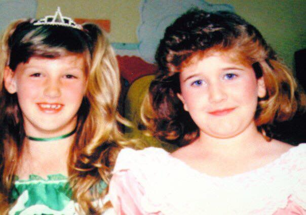 My friend Brandy and I at our May Day program in 2nd grade.